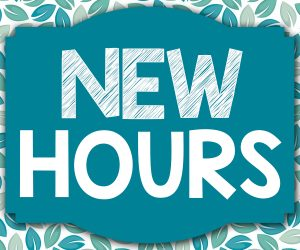 New Hours: Curbside Still Available